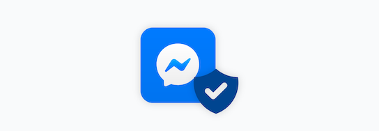 WhatsApp icon with a security shield
